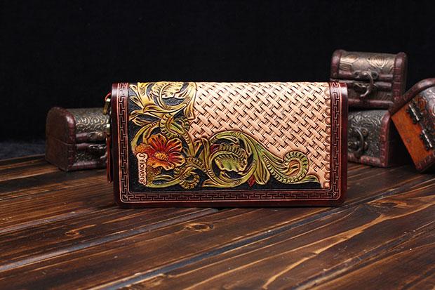 皮雕钱包ENDH-003——恩典皮具背包案例