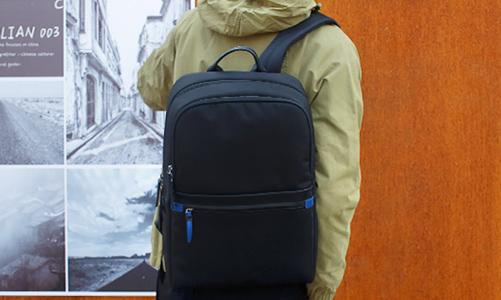恩典皮具背包案例-双肩背包生产厂家定制