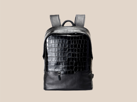 商务背包双肩包定制:EN006|皮具厂